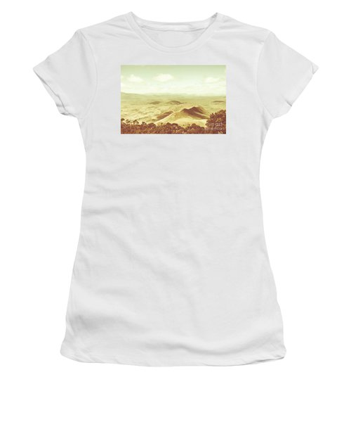 Pastel Tone Mountains Women's T-Shirt