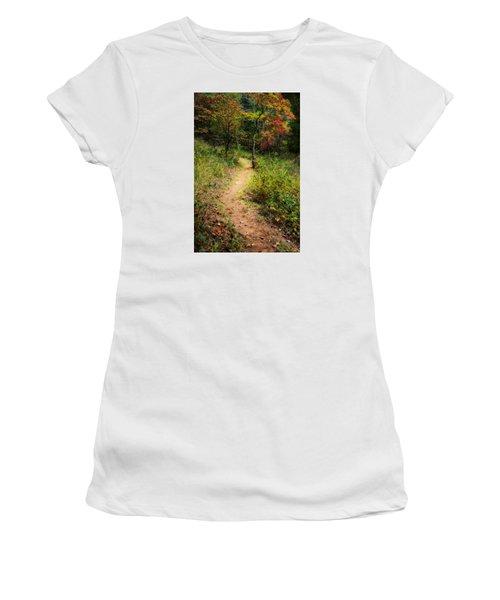 Path In The Prairie Women's T-Shirt (Junior Cut) by Diana Boyd
