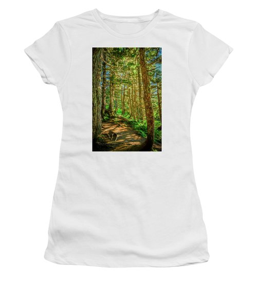 Path In The Trees Women's T-Shirt