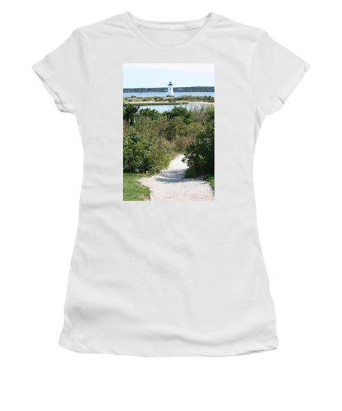 Path To Edgartown Lighthouse Women's T-Shirt
