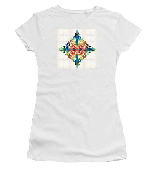 Pattern Art - Color Fusion Design 1 By Sharon Cummings Women's T-Shirt (Junior Cut)