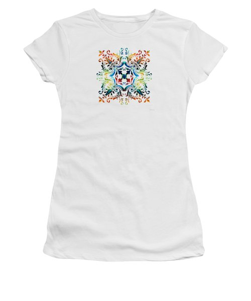 Pattern Art - Color Fusion Design 7 By Sharon Cummings Women's T-Shirt