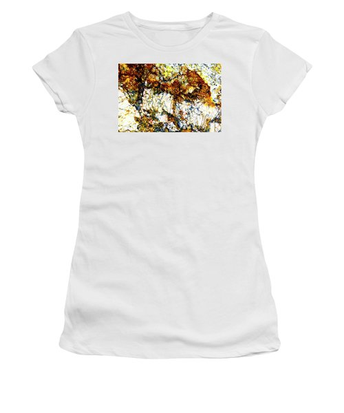 Women's T-Shirt (Junior Cut) featuring the photograph Patterns In Stone - 210 by Paul W Faust - Impressions of Light