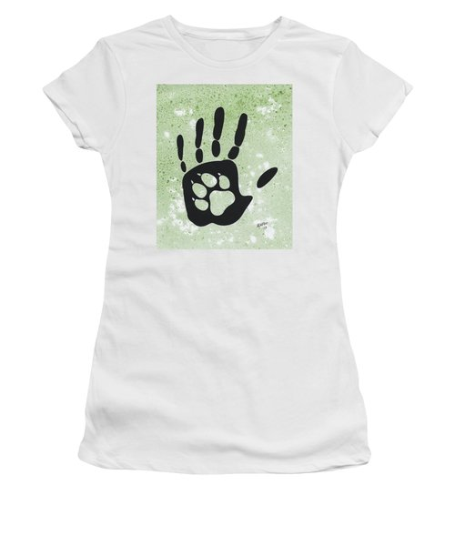 Paw And Hand Women's T-Shirt (Athletic Fit)