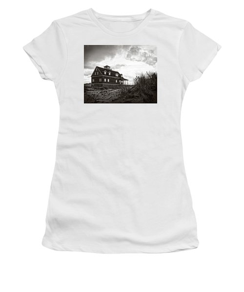Women's T-Shirt (Athletic Fit) featuring the photograph Pea Island Lifesaving Station by Alan Raasch