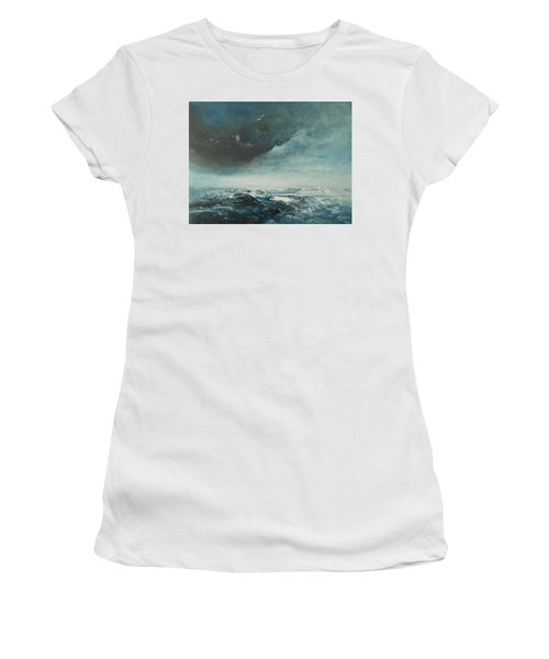 Peace In The Midst Of The Storm Women's T-Shirt (Junior Cut) by Jane See