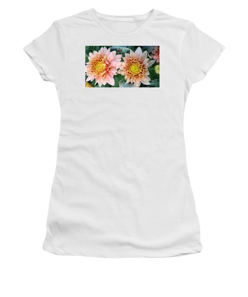 Peachy Chrysanthemums Women's T-Shirt (Athletic Fit)