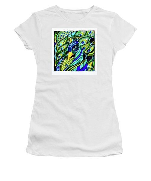 Peacock Women's T-Shirt (Athletic Fit)