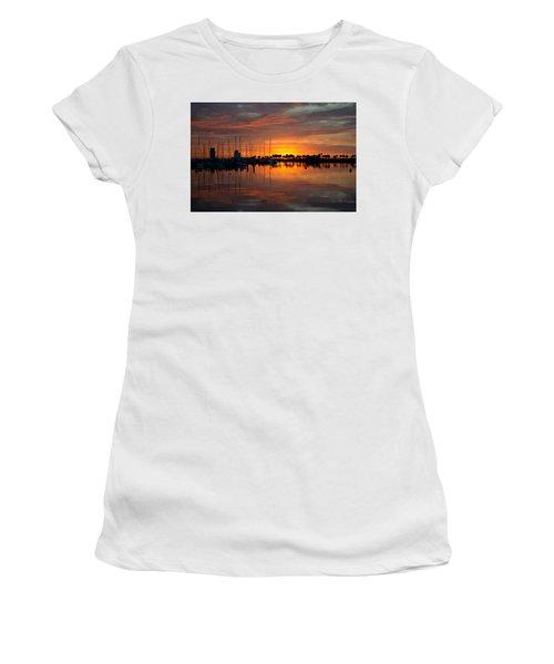 Peeking Sun Women's T-Shirt (Athletic Fit)