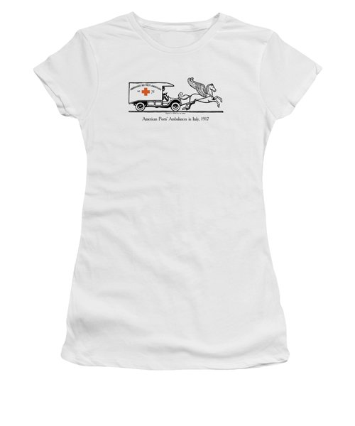 Pegasus At Work For The Allies Women's T-Shirt (Athletic Fit)