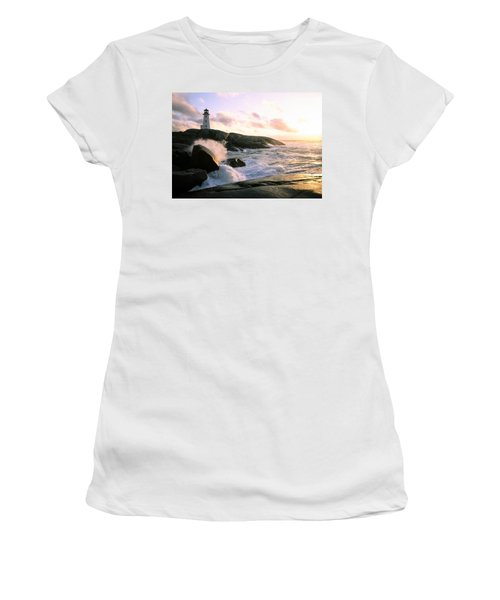 Peggy's Point Lighthouse, Canada, Nova Scotia, Peggy's Cove Women's T-Shirt (Athletic Fit)