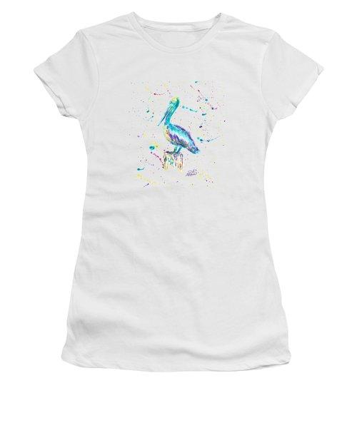 Pelican By Jan Marvin Women's T-Shirt (Junior Cut) by Jan Marvin