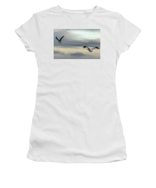 Pelican Chasing Osprey Women's T-Shirt