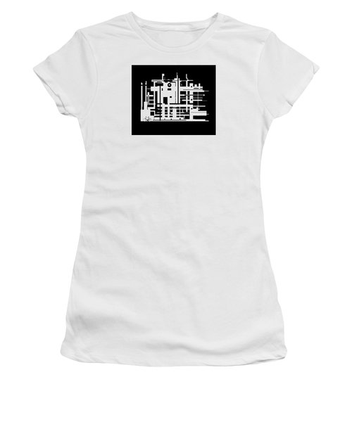 Women's T-Shirt (Junior Cut) featuring the painting Penman Original-325- The Visitor by Andrew Penman