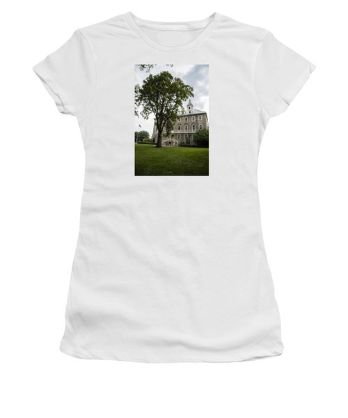 Penn State Old Main From Side  Women's T-Shirt (Junior Cut) by John McGraw