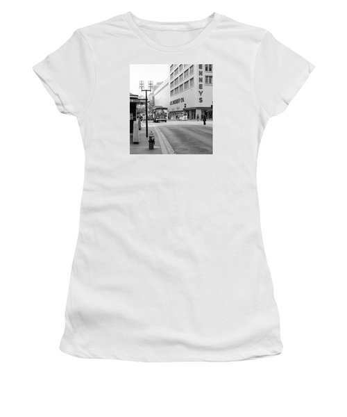 Women's T-Shirt featuring the photograph Penney's On The Mall by Mike Evangelist