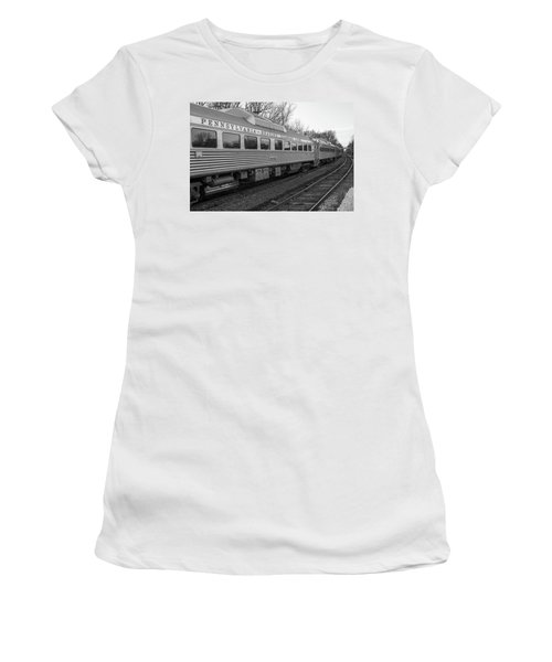 Pennsylvania Reading Seashore Lines Train Women's T-Shirt (Junior Cut) by Terry DeLuco