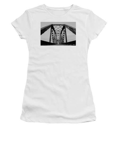 Pennsylvania Steel Co. Railroad Bridge Women's T-Shirt (Athletic Fit)