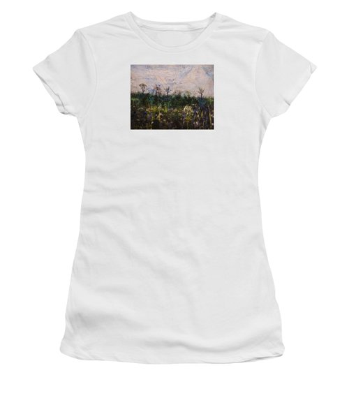 Women's T-Shirt (Junior Cut) featuring the painting Pentimento by Ron Richard Baviello
