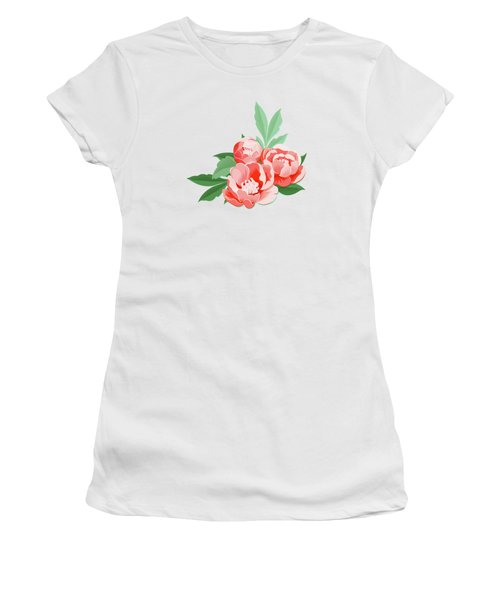 Peonies And Mint Women's T-Shirt