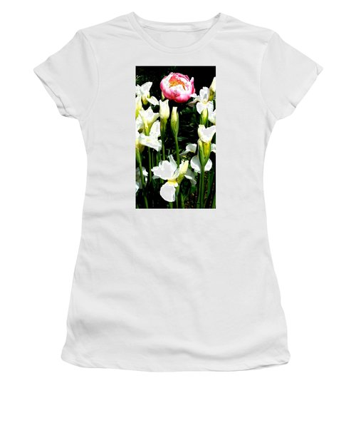 Peony And Iris Women's T-Shirt (Athletic Fit)
