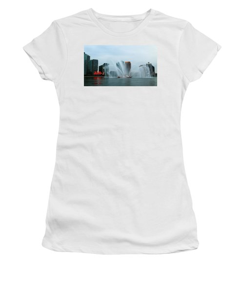Pepsi Sign And Fdny  Women's T-Shirt (Athletic Fit)