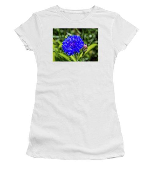 Perky Cornflower Women's T-Shirt (Athletic Fit)