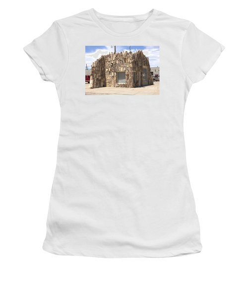 Petrified Wood Building Women's T-Shirt (Athletic Fit)