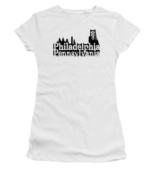 Philadelphia Pennsylvania Women's T-Shirt (Junior Cut) by Christopher Woods