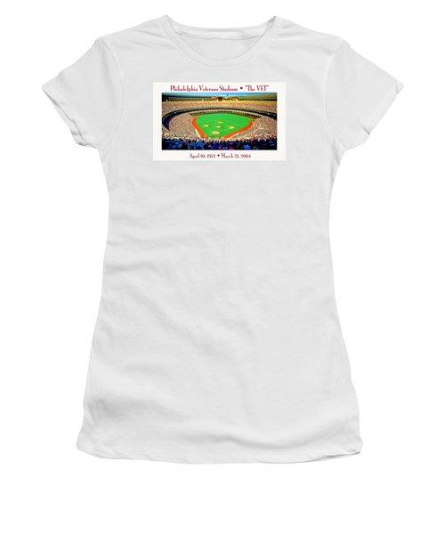 Philadelphia Veterans Stadium The Vet Women's T-Shirt (Athletic Fit)
