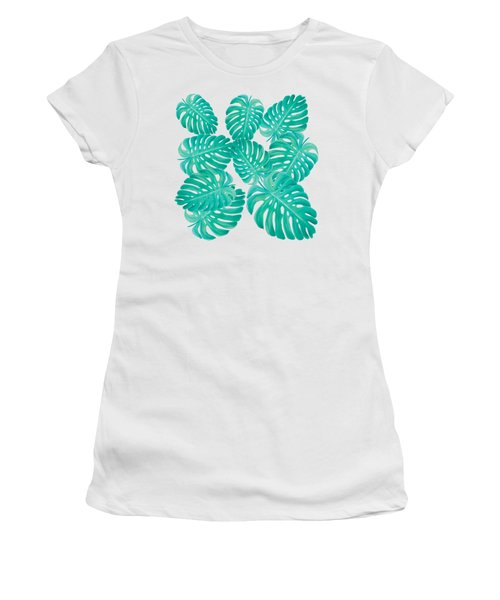 Philodendron Leaves Women's T-Shirt (Athletic Fit)