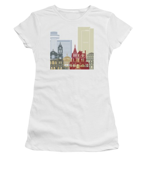 Phoenix Skyline Poster Women's T-Shirt (Athletic Fit)