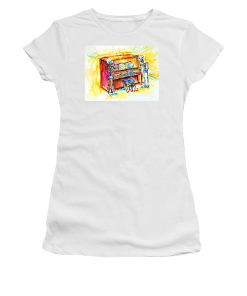 Piano Man Women's T-Shirt (Athletic Fit)