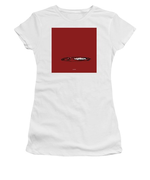 Women's T-Shirt (Junior Cut) featuring the digital art Piccolo In Orange Red by Jazz DaBri