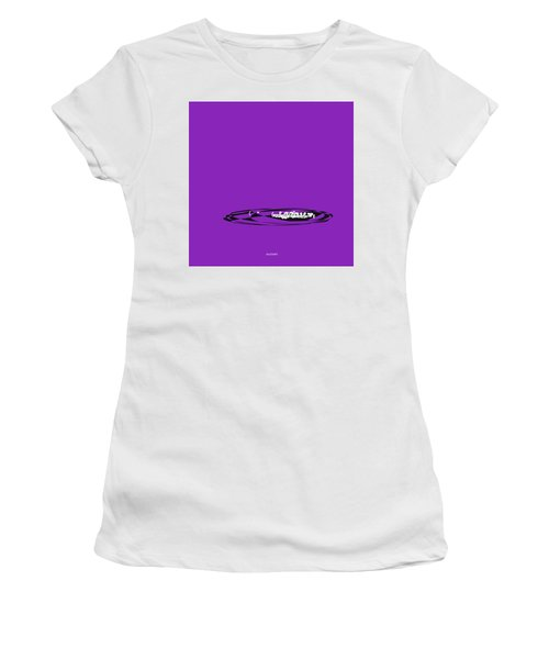 Women's T-Shirt (Junior Cut) featuring the digital art Piccolo In Purple by Jazz DaBri