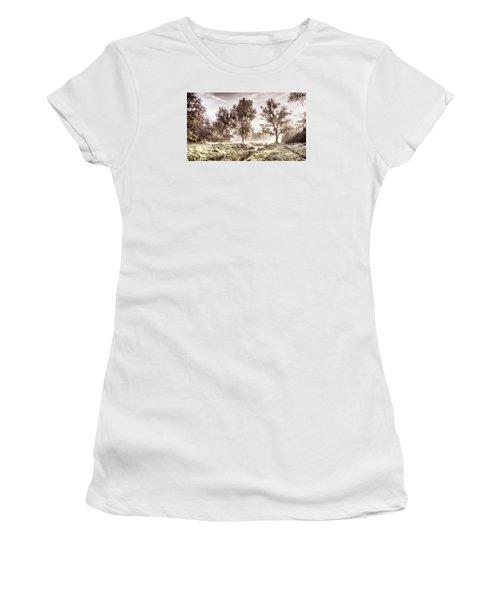 Pictorial Autumn Landscape Artistic Picture Women's T-Shirt (Athletic Fit)