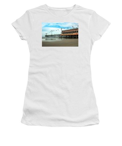 Women's T-Shirt (Junior Cut) featuring the photograph Pier Daytona Beach by Carolyn Marshall