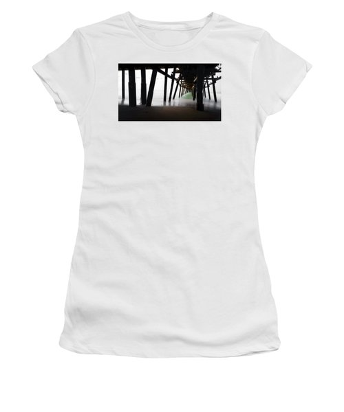 Women's T-Shirt (Junior Cut) featuring the photograph Pier Pressure by Sean Foster