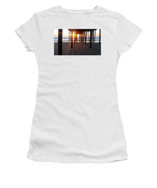 Pier Shadows Women's T-Shirt (Junior Cut) by Robert Banach
