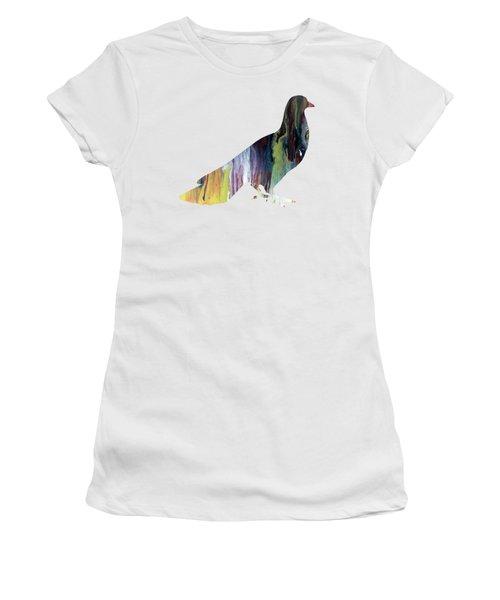 Pigeon Women's T-Shirt (Athletic Fit)