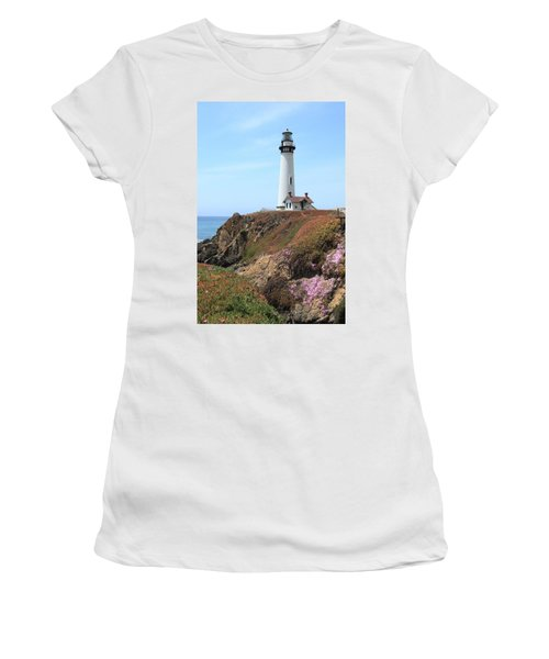 Pigeon Point Lighthouse 2 Women's T-Shirt (Athletic Fit)