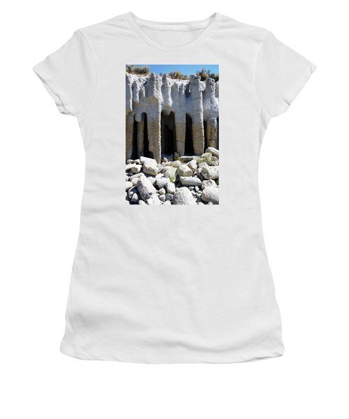 Pillars At Crowley Lake Women's T-Shirt (Junior Cut) by Michael Courtney