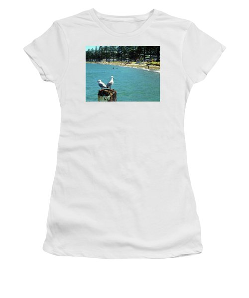 Pilot Bay Beach 4 - Mount Maunganui Tauranga New Zealand Women's T-Shirt (Athletic Fit)
