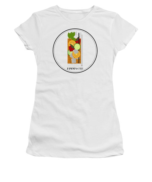 Pimm's Cup Cocktail In Art Deco  Women's T-Shirt (Athletic Fit)