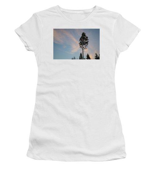 Pine Tree Silhouette Women's T-Shirt (Junior Cut) by Kennerth and Birgitta Kullman