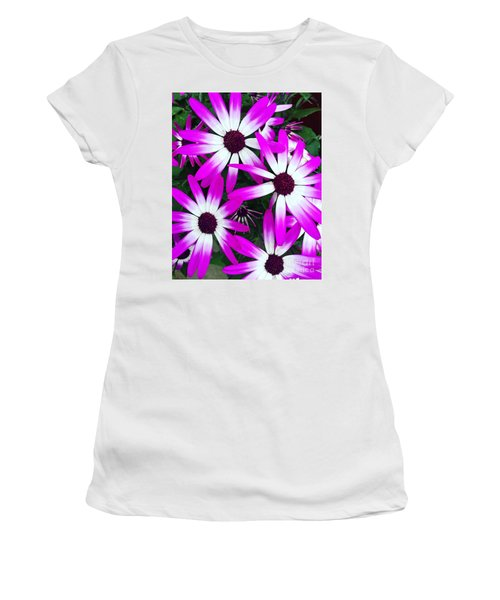 Pink And White Flowers Women's T-Shirt (Athletic Fit)