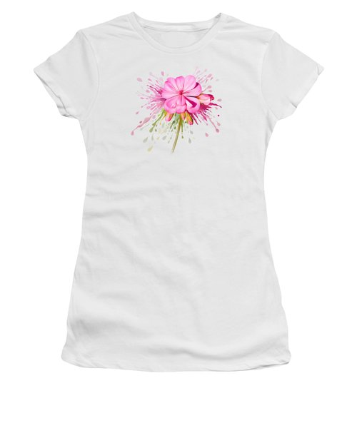 Pink Eruption Women's T-Shirt (Junior Cut) by Ivana Westin