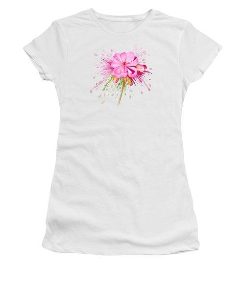 Pink Eruption Women's T-Shirt (Athletic Fit)