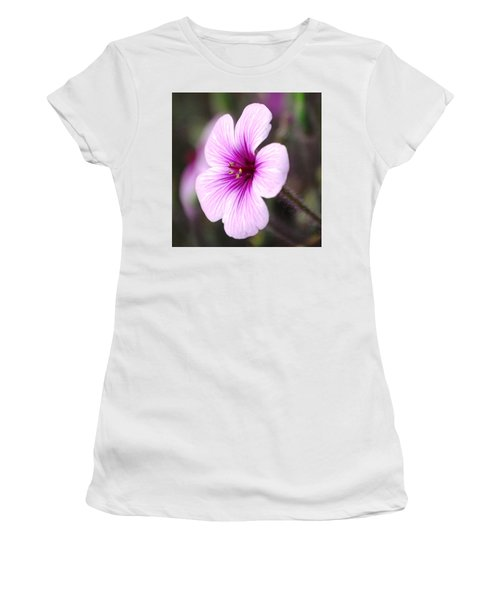 Pink Flower Women's T-Shirt (Junior Cut) by Sumoflam Photography
