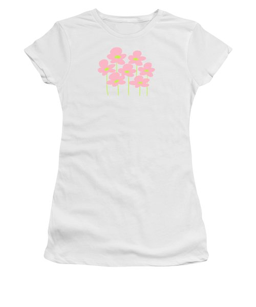 Pink Flowers #1 Women's T-Shirt (Athletic Fit)